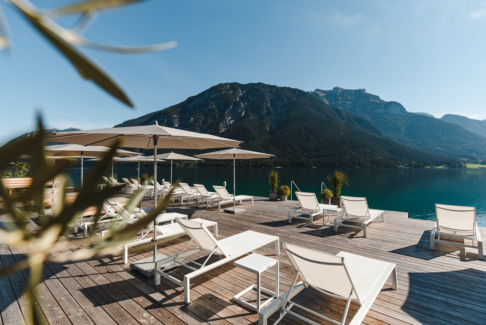 Hoteleigener Badesteg © Seehotel Einwaller