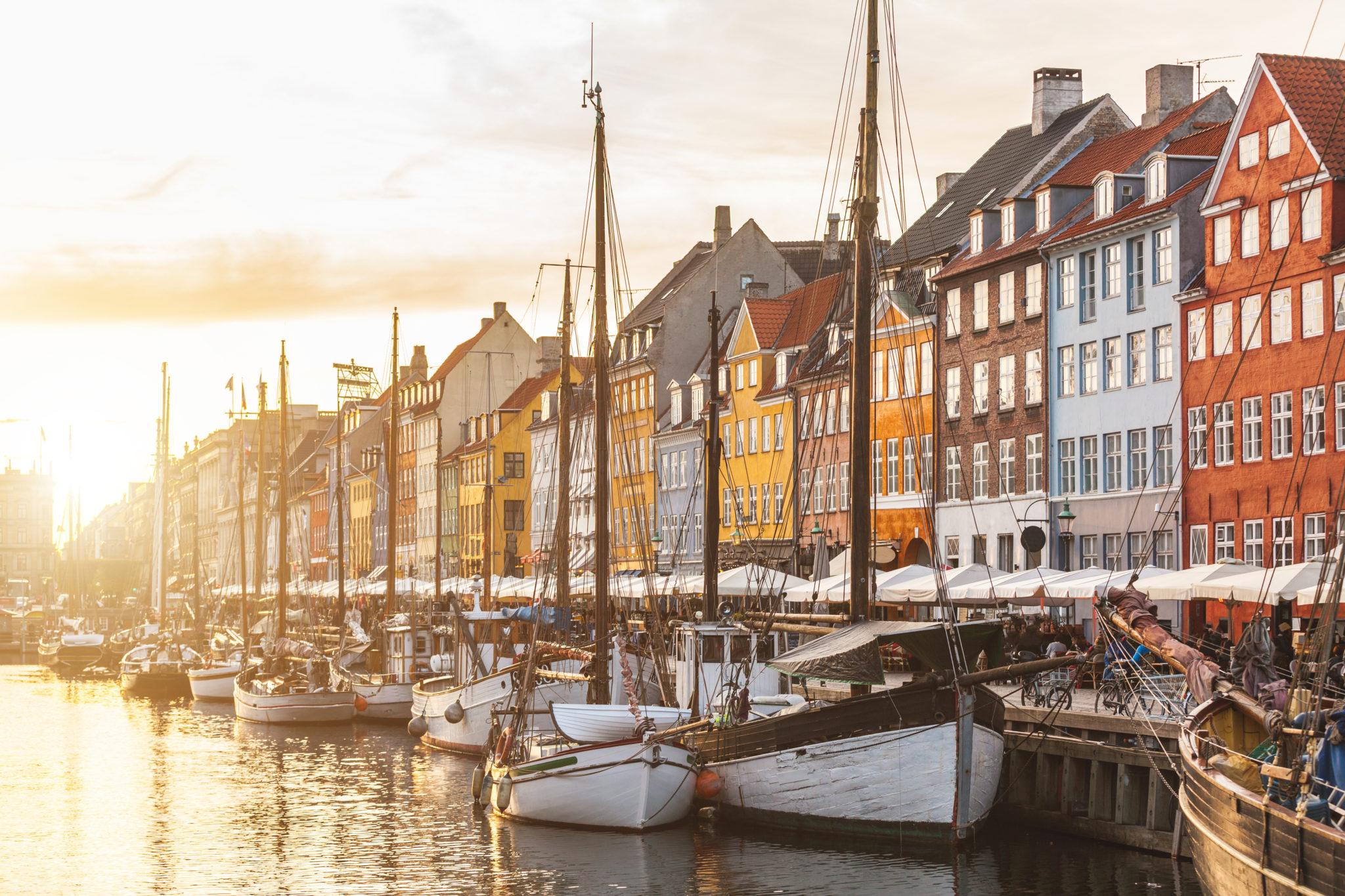 Kopenhagen bei Sonnenuntergang