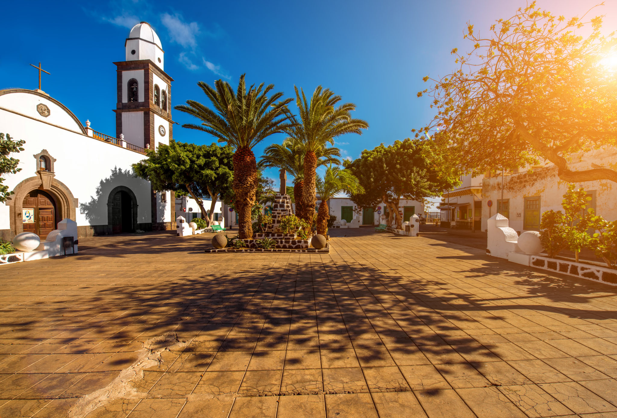 San Gines church in Arrecife city on Lanzarote island