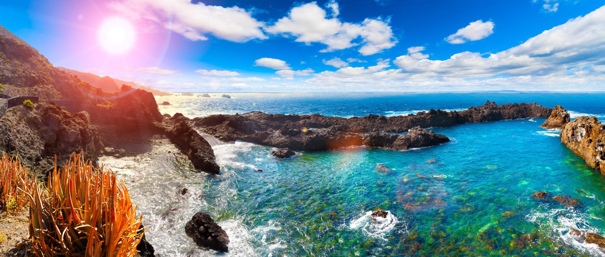 Tolla Landschaften und Buchten auf Teneriffa