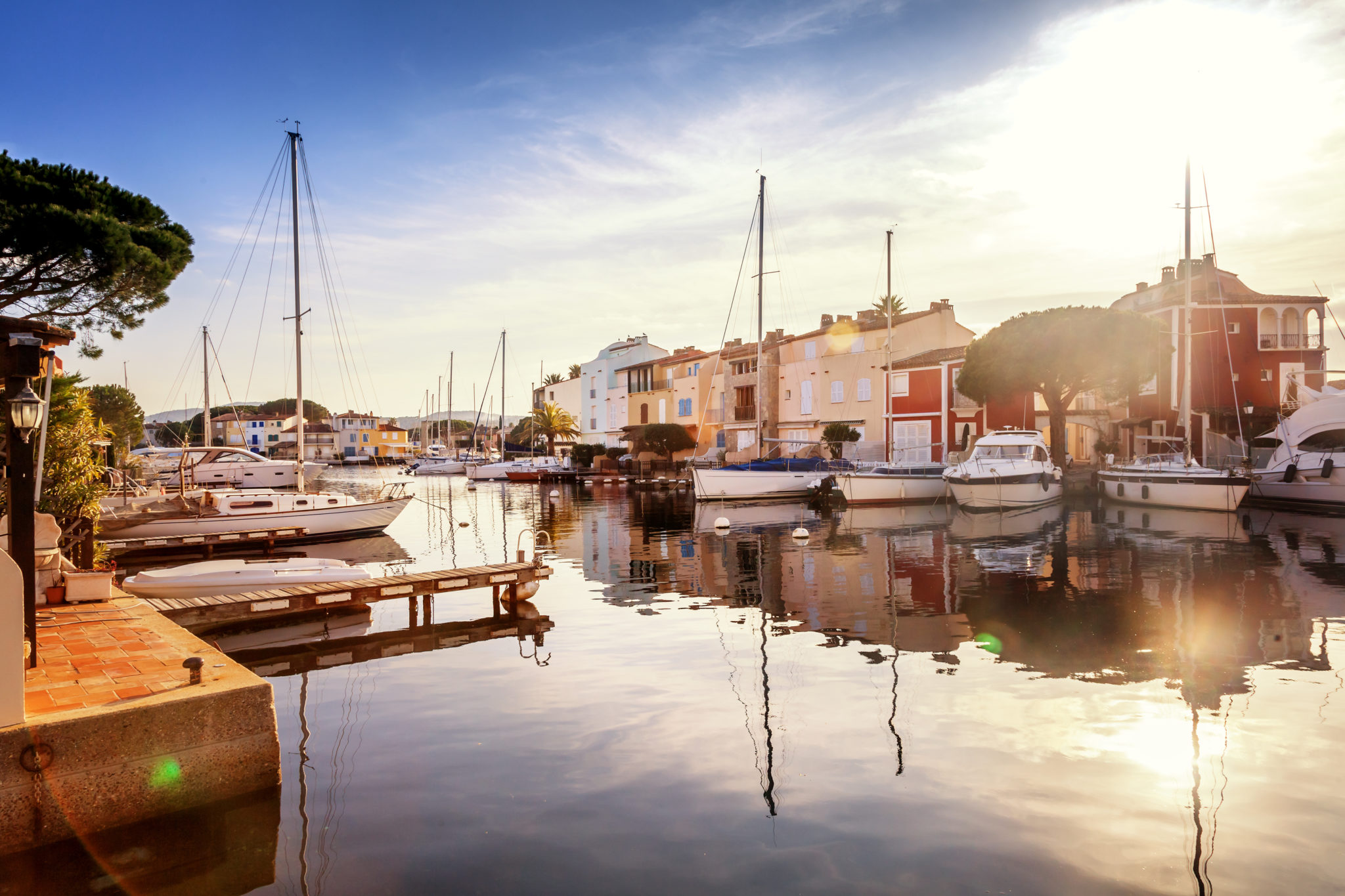 Die Lagune von Port Grimaud an der Côte d'Azur
