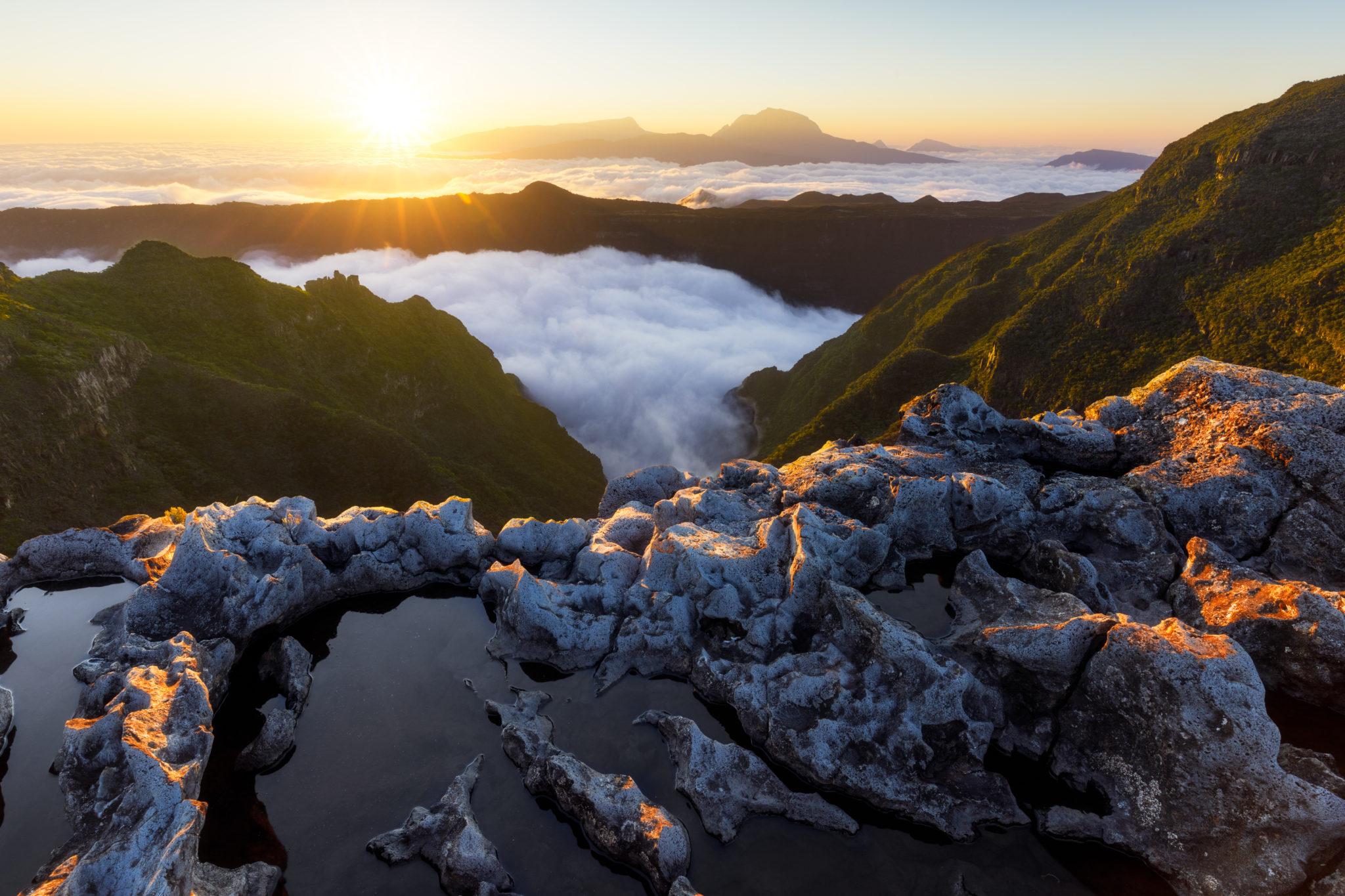 Sonnenuntergang auf La Réunion