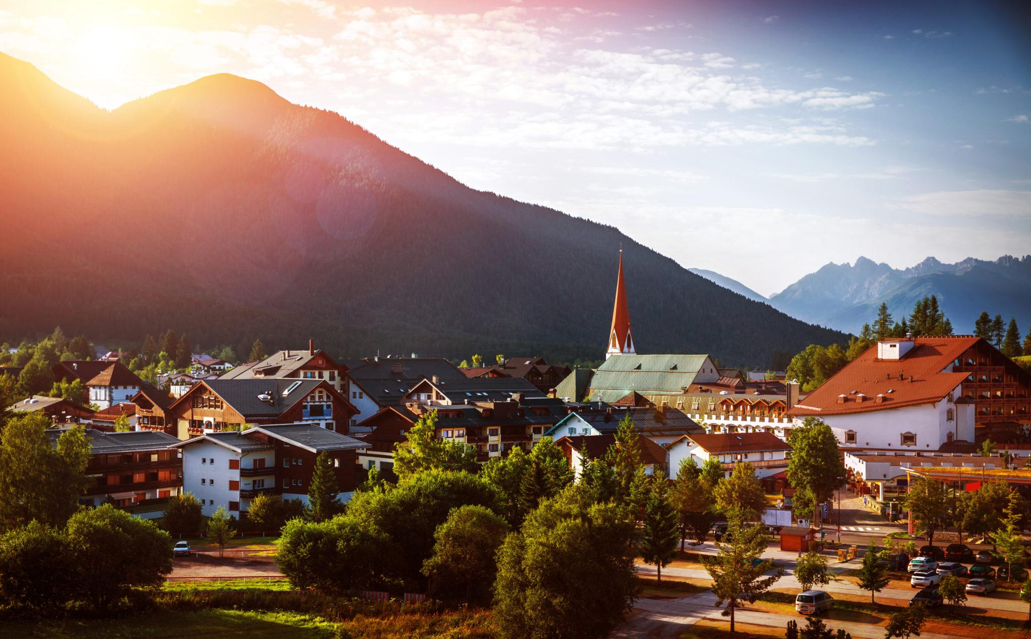 Sonnenuntergang im August in Seefeld