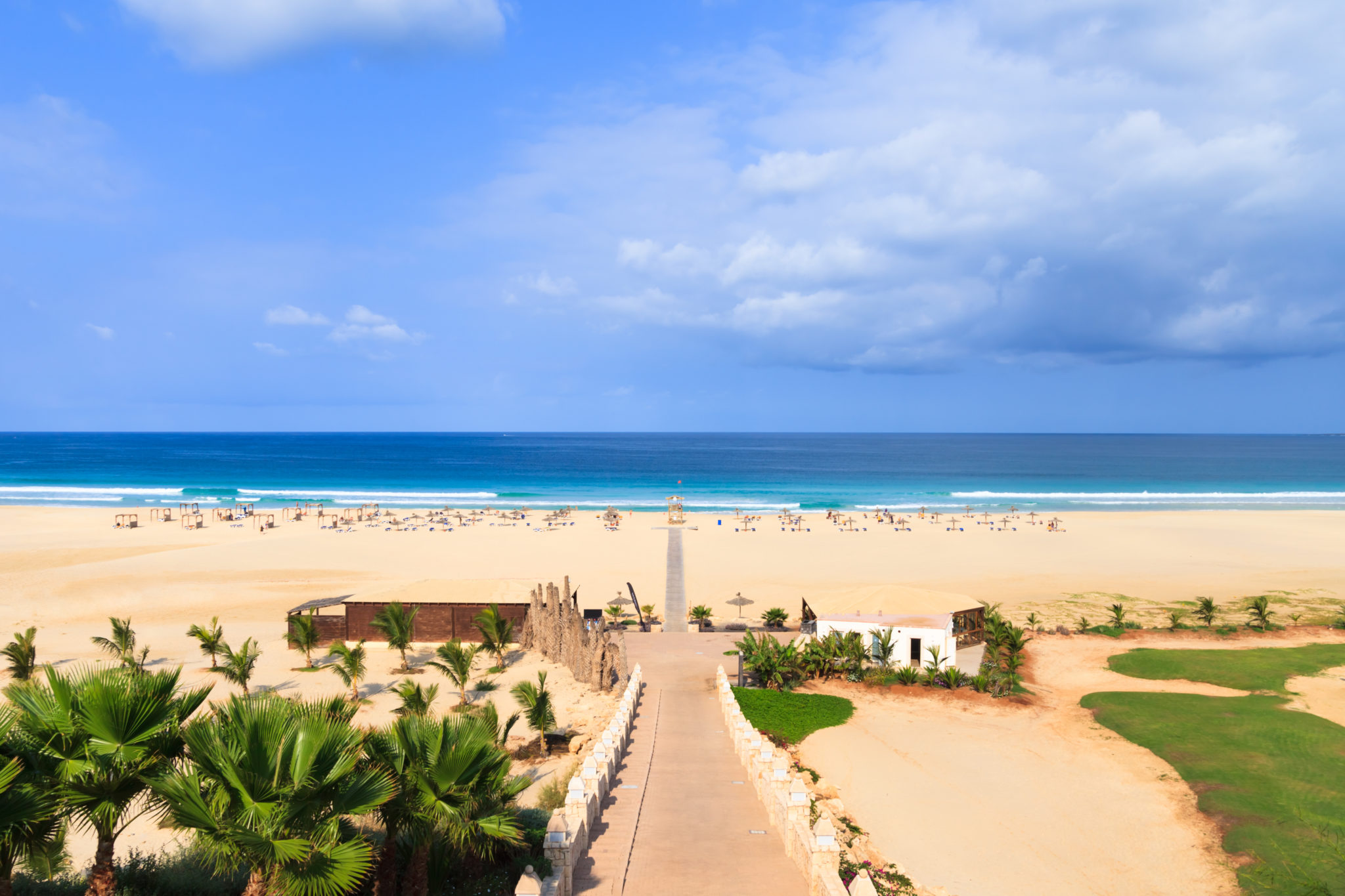 Beautiful view on beach and ocean, Boavista, Cape-Verde