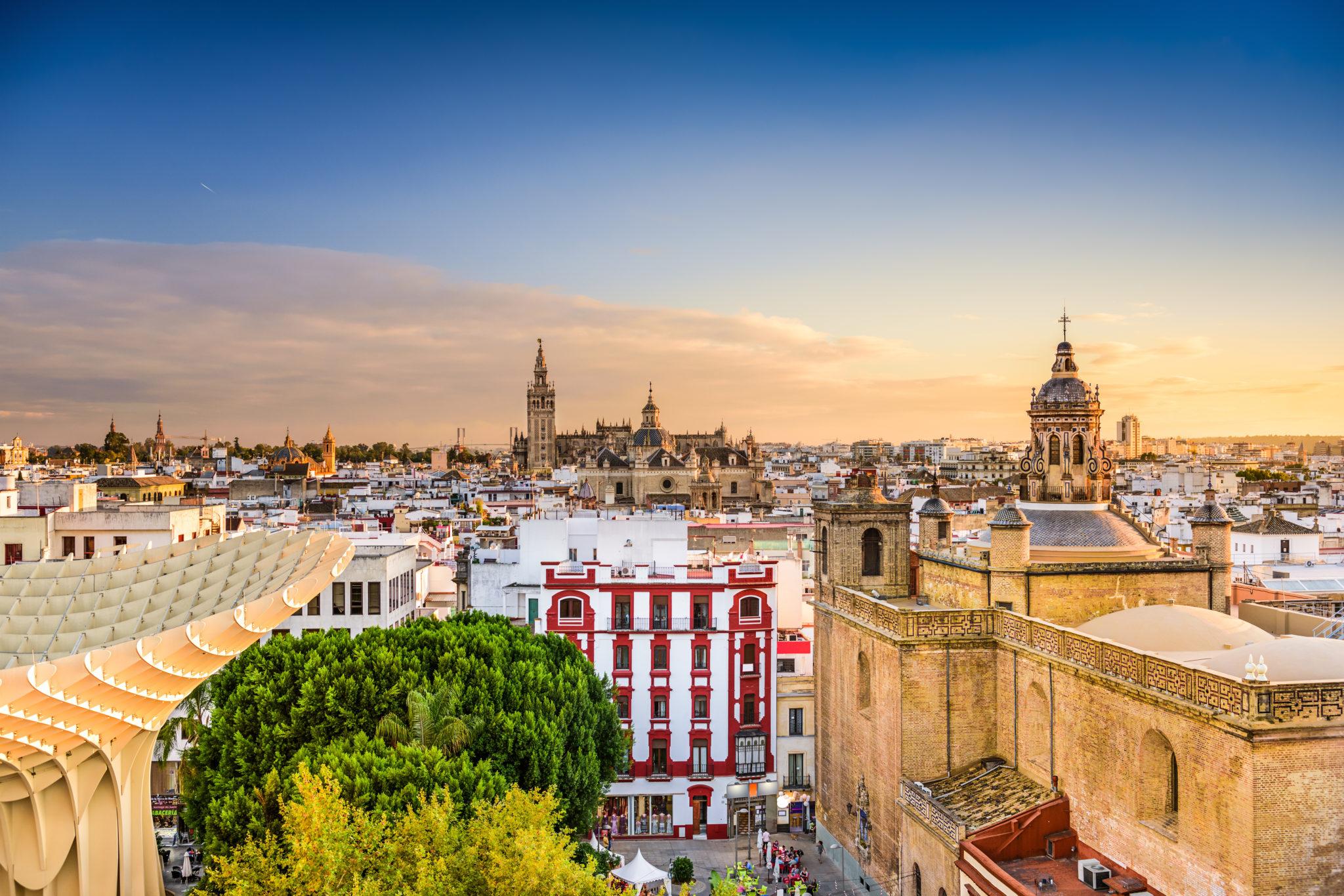 Blick vom Metropol Parasol auf Sevilla