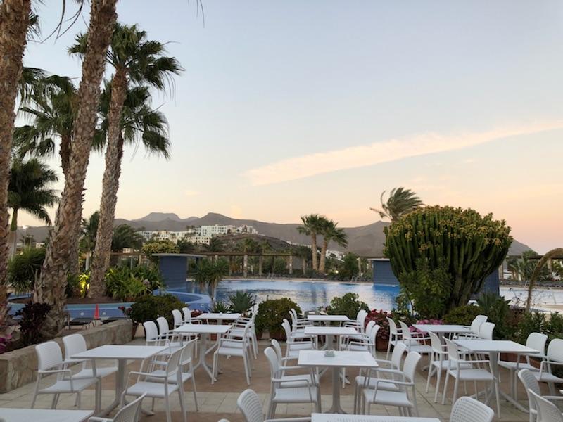 Fuerteventura Playitas Aparthotel Blick von der Terrasse