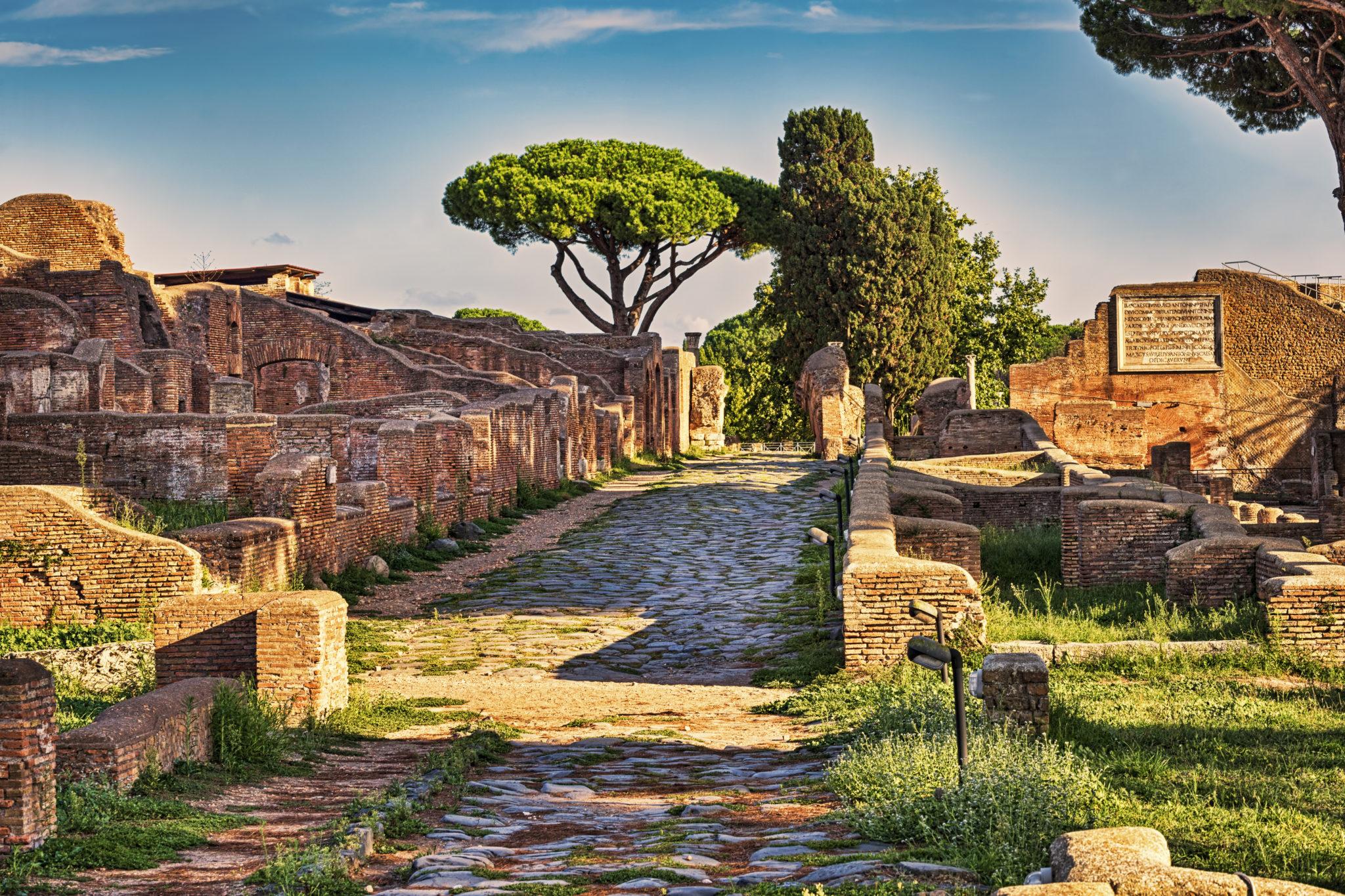 Die antiken Stätten von Ostia Antica bei Rom