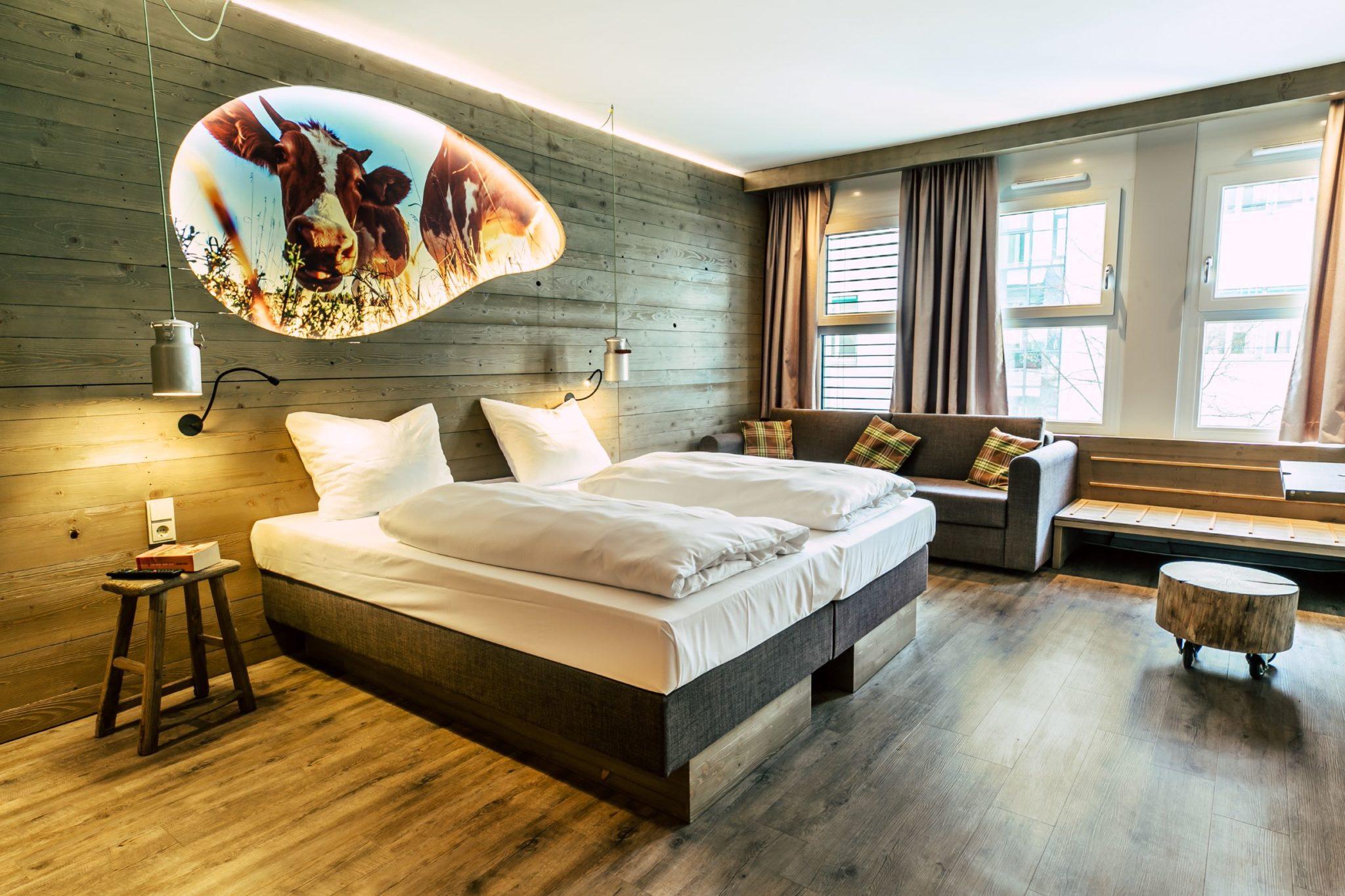 Chill Out Alm Zimmer im Cocoon Hotel Hauptbahnhof München