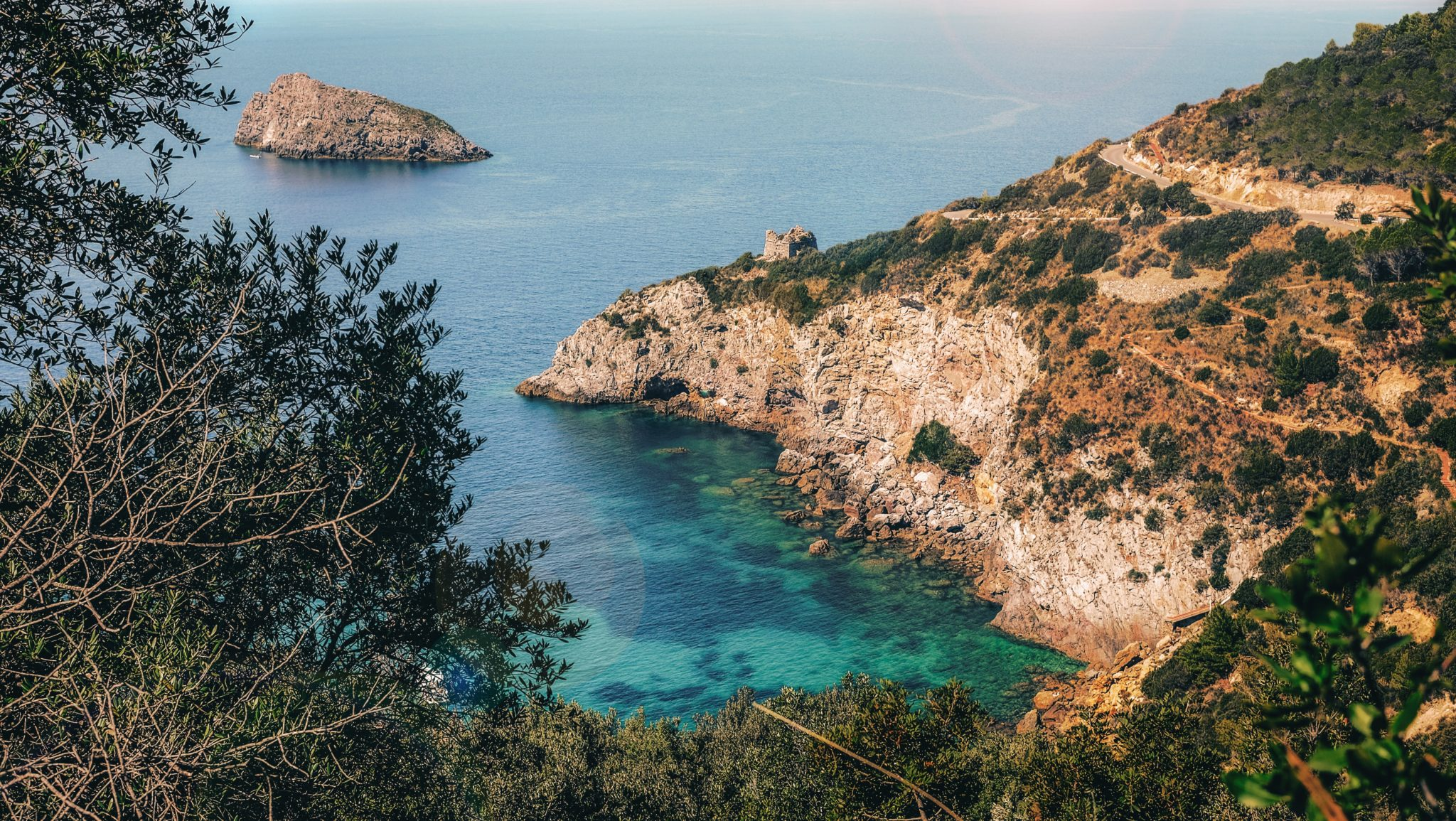Die Bucht Cala del Gesso auf der Halbinsel Monte Argentario