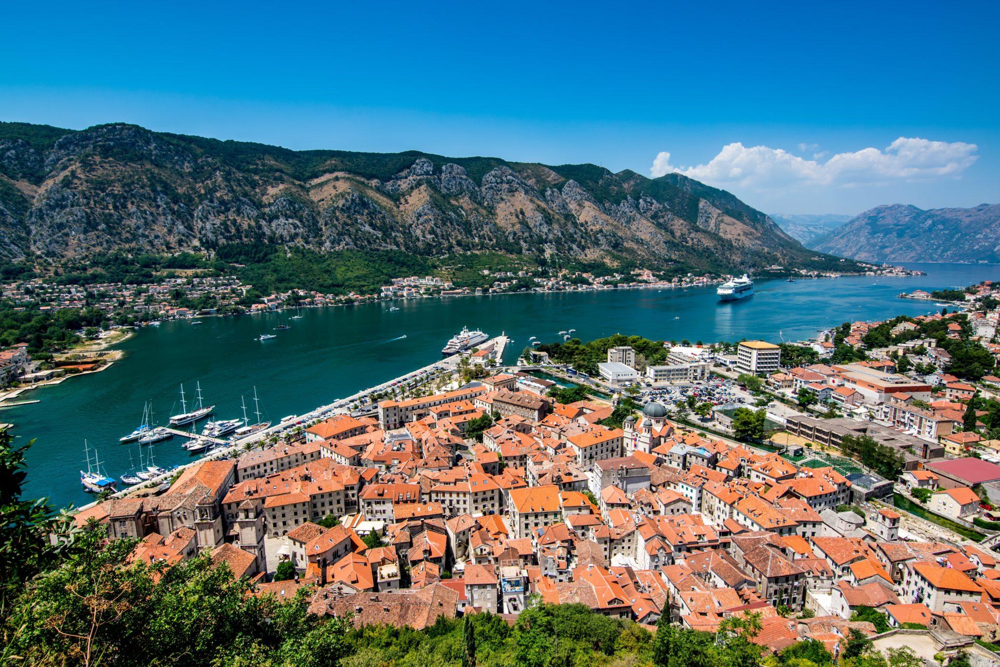 Blick auf die Bucht von Kotor