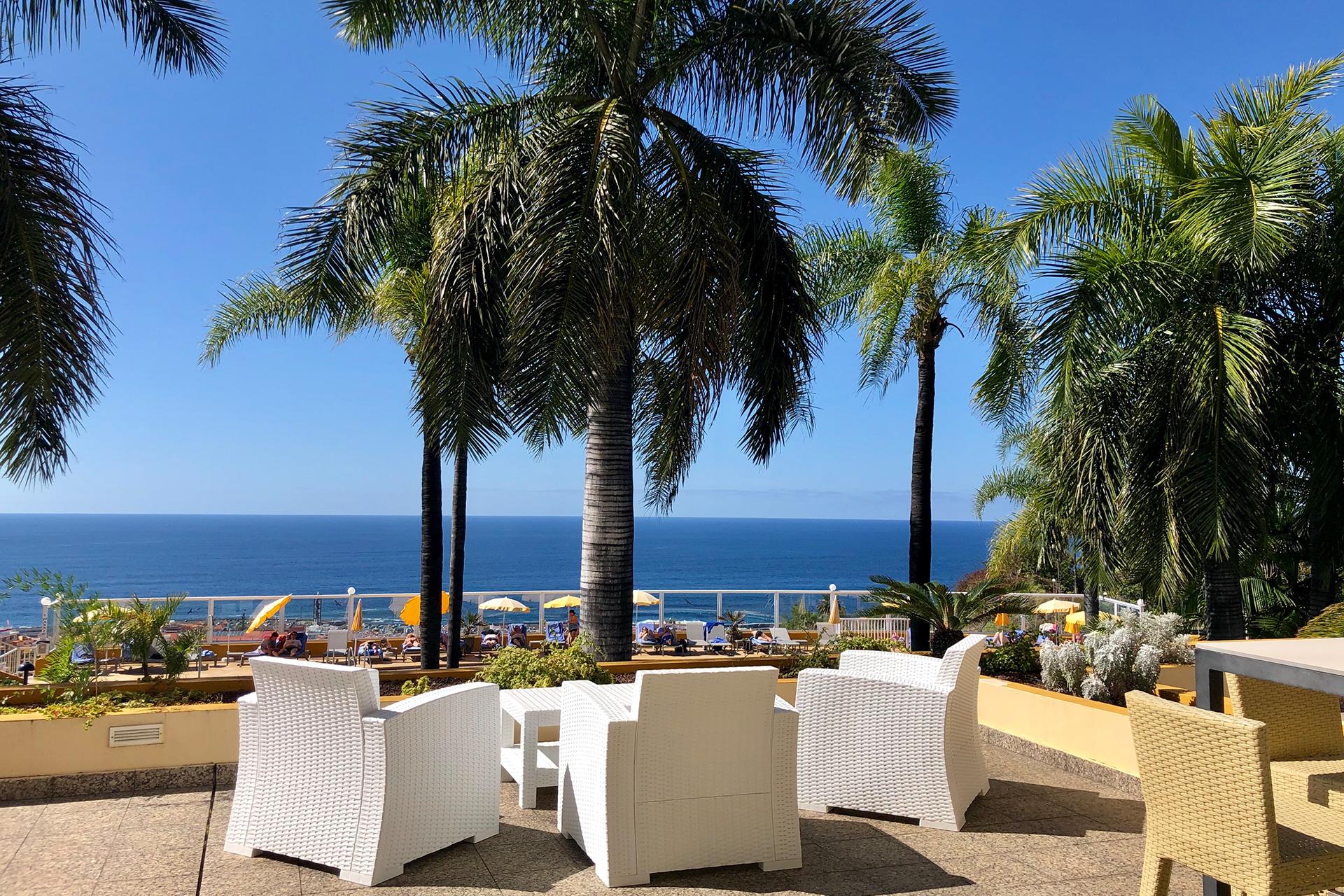 Terrasse des Tigaiga Hotels auf Teneriffa