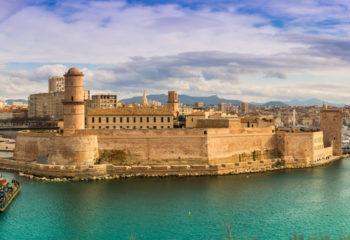 Blick auf das Fort Saint-Jean in Marseille