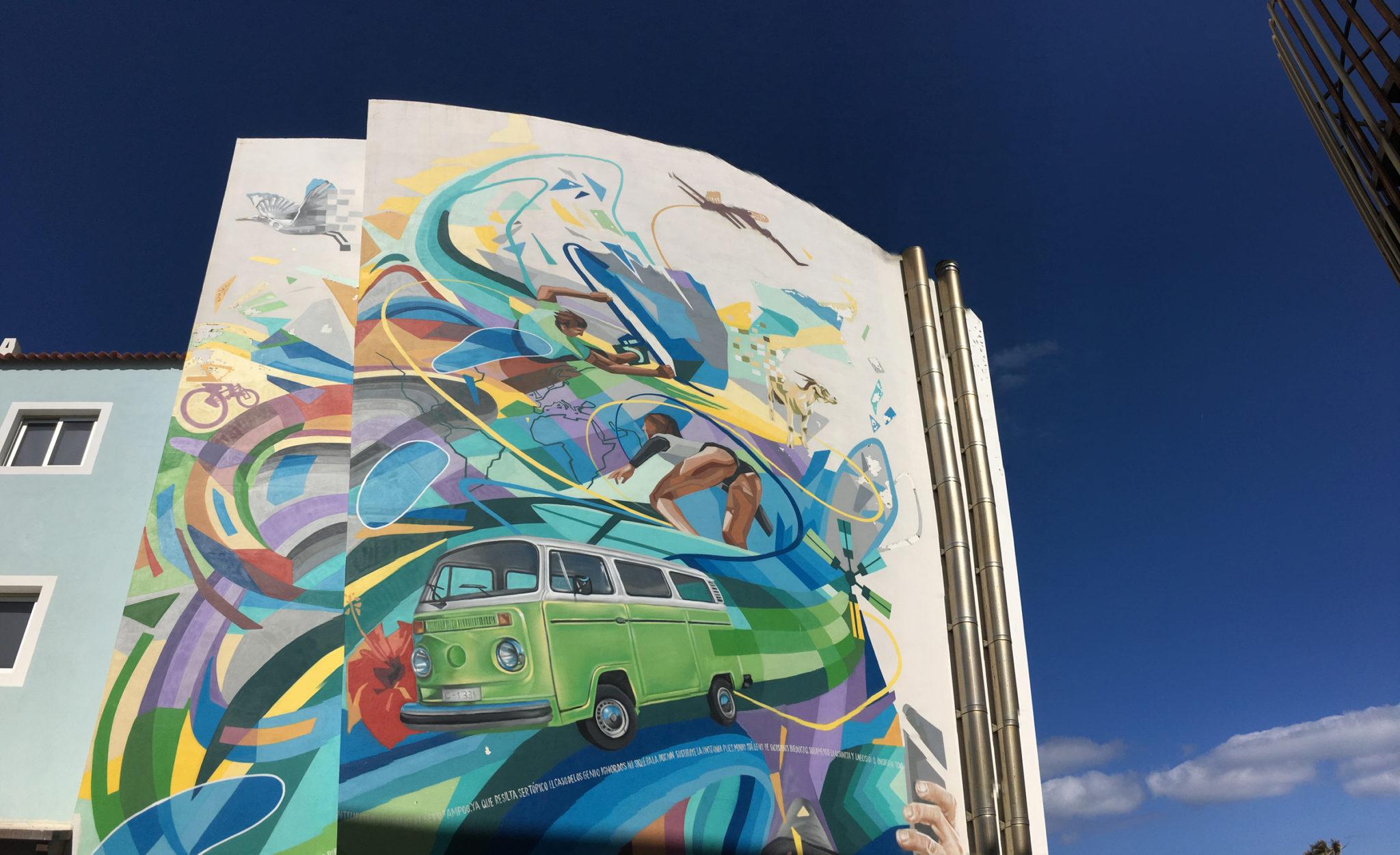 Graffiti Kunst im Surfing Colors