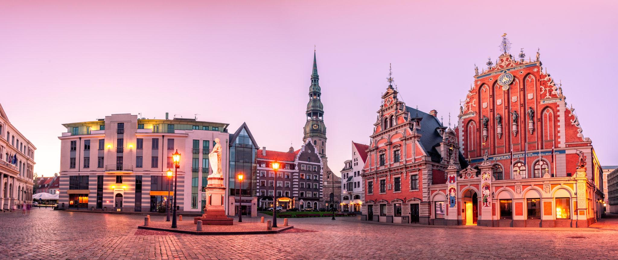 Der Rathausplatz von Riga
