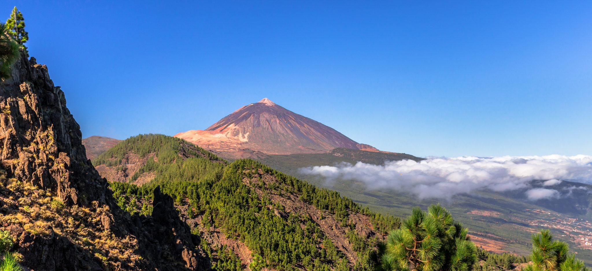 Panaoramablick auf den Teide und das Orotava Tal auf Teneriffa