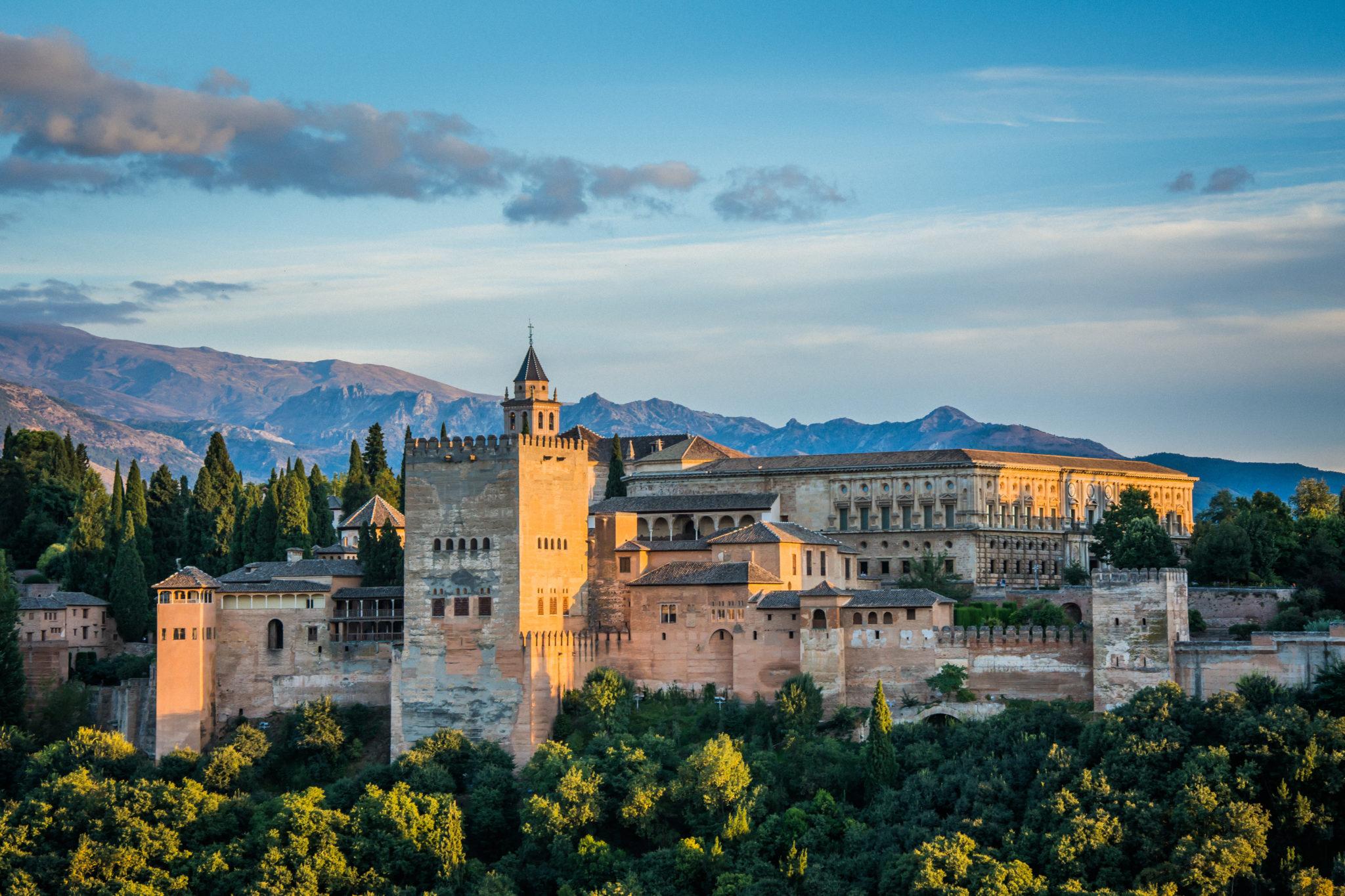 Blick auf die Alhambra in Granada