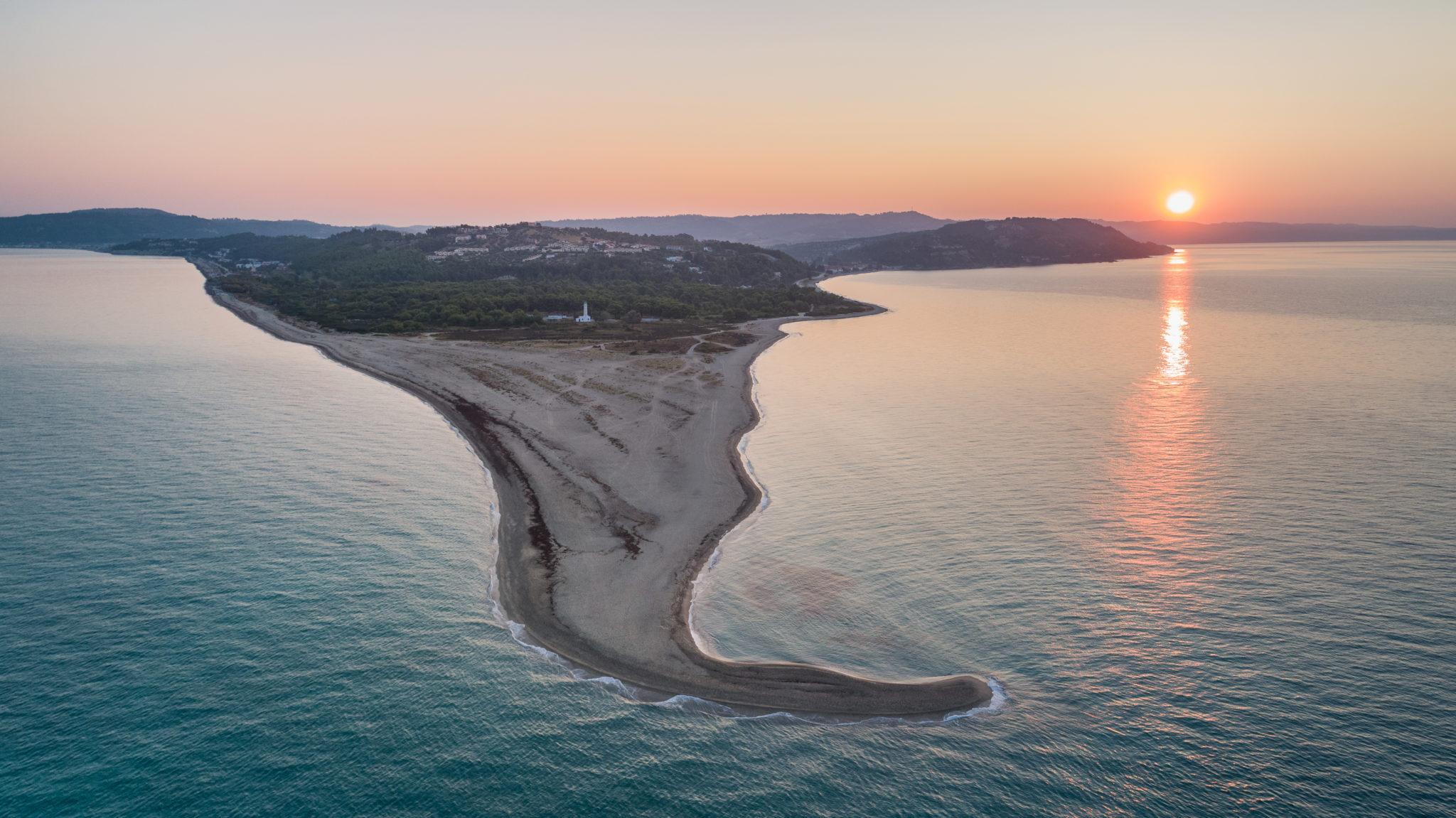 Sonnenaufgang über der Halbinsel Kassandra