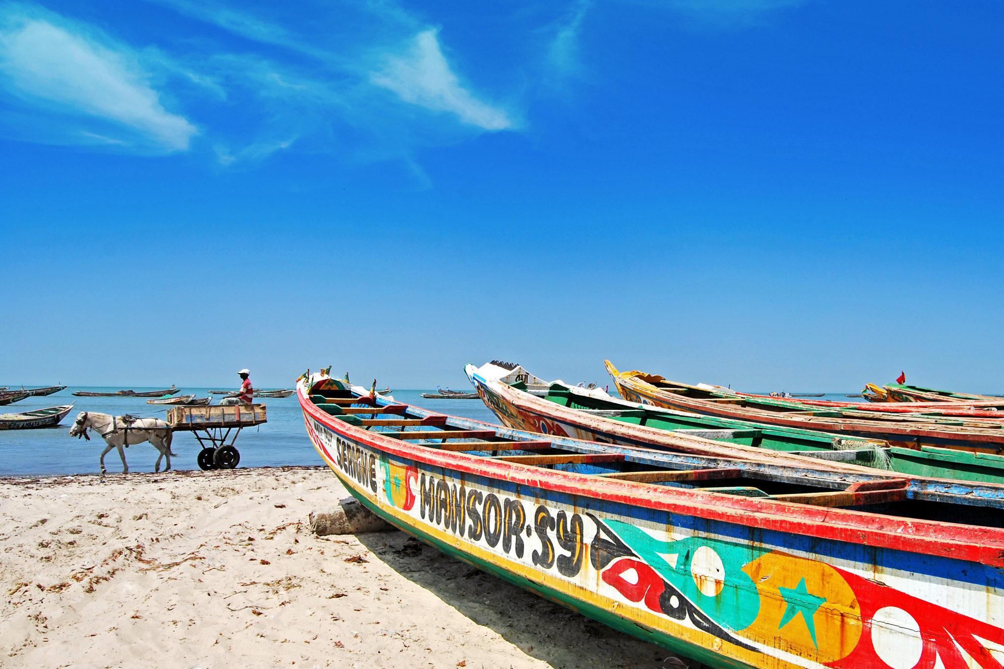 Fischerboote im Senegal