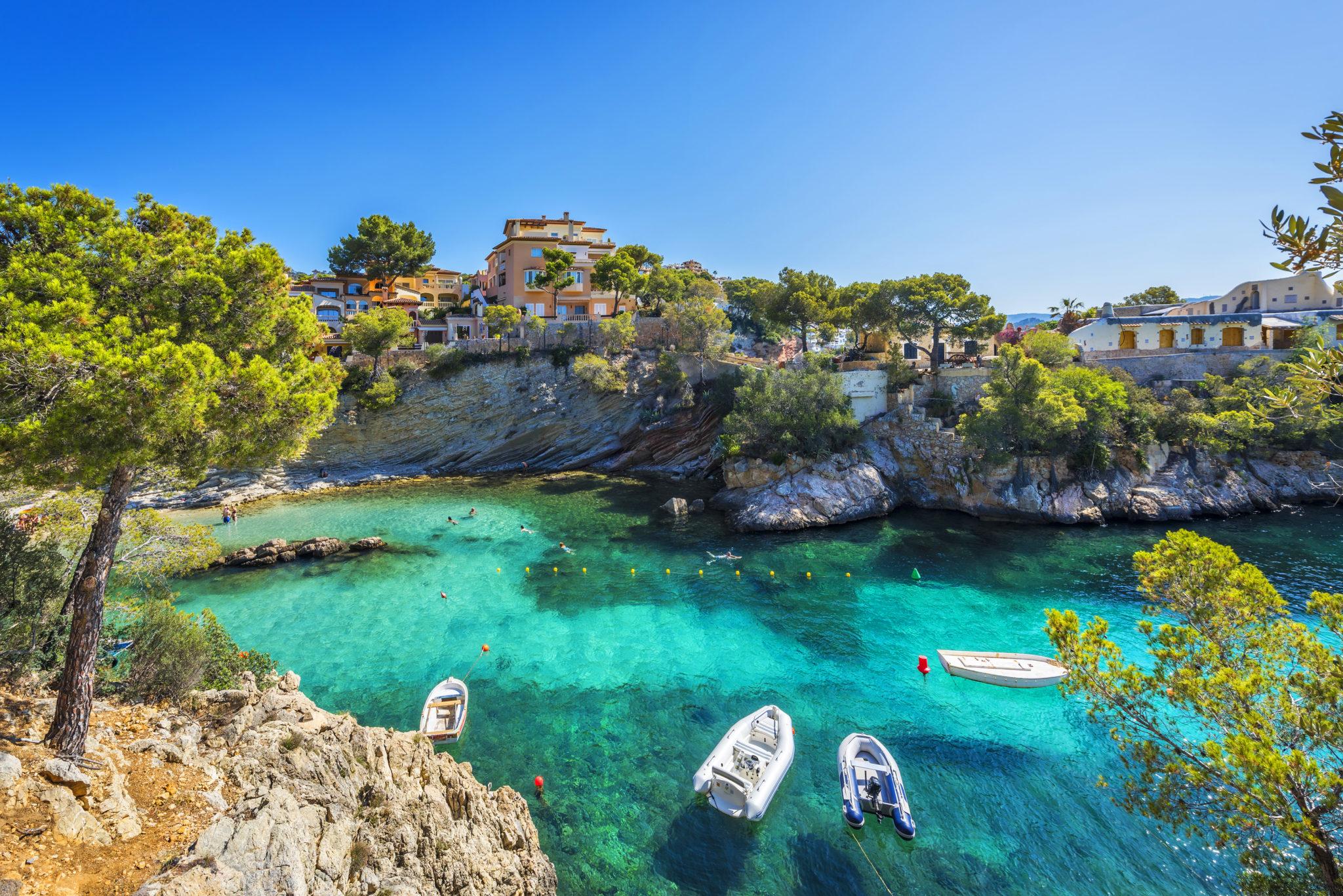 """Die Bucht """"Cala Fornells"""" bei Paguera"""