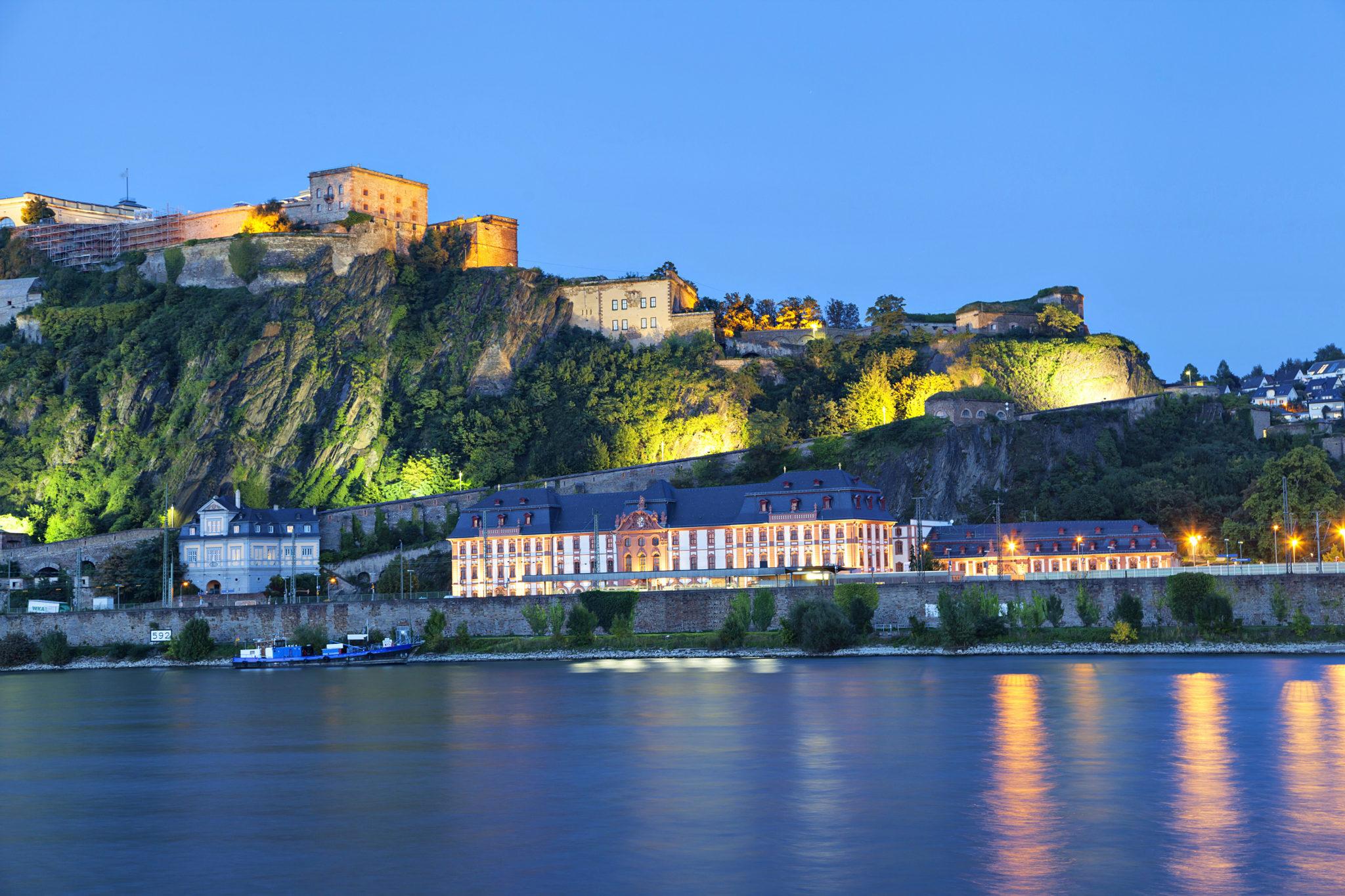 Die Festung Ehrenbreitstein in Koblenz