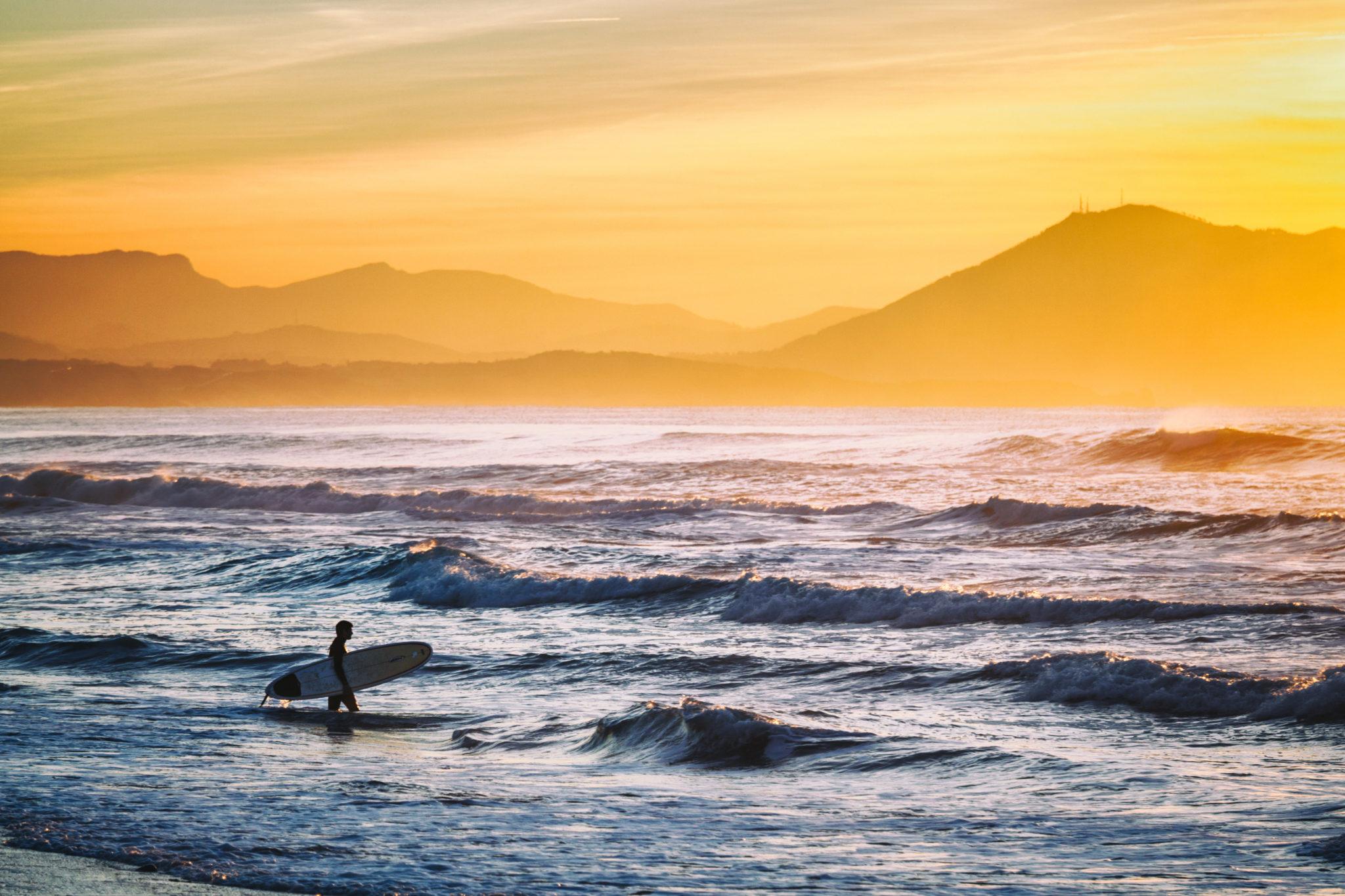 Französische Atlantikküste im August - Surferparadies