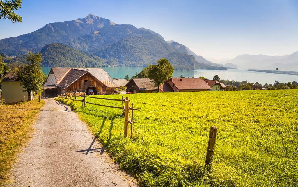 Herrlicher Ausblick auf den Wolfgangsee © Urlaub am Bauernhof im Salzburger Land