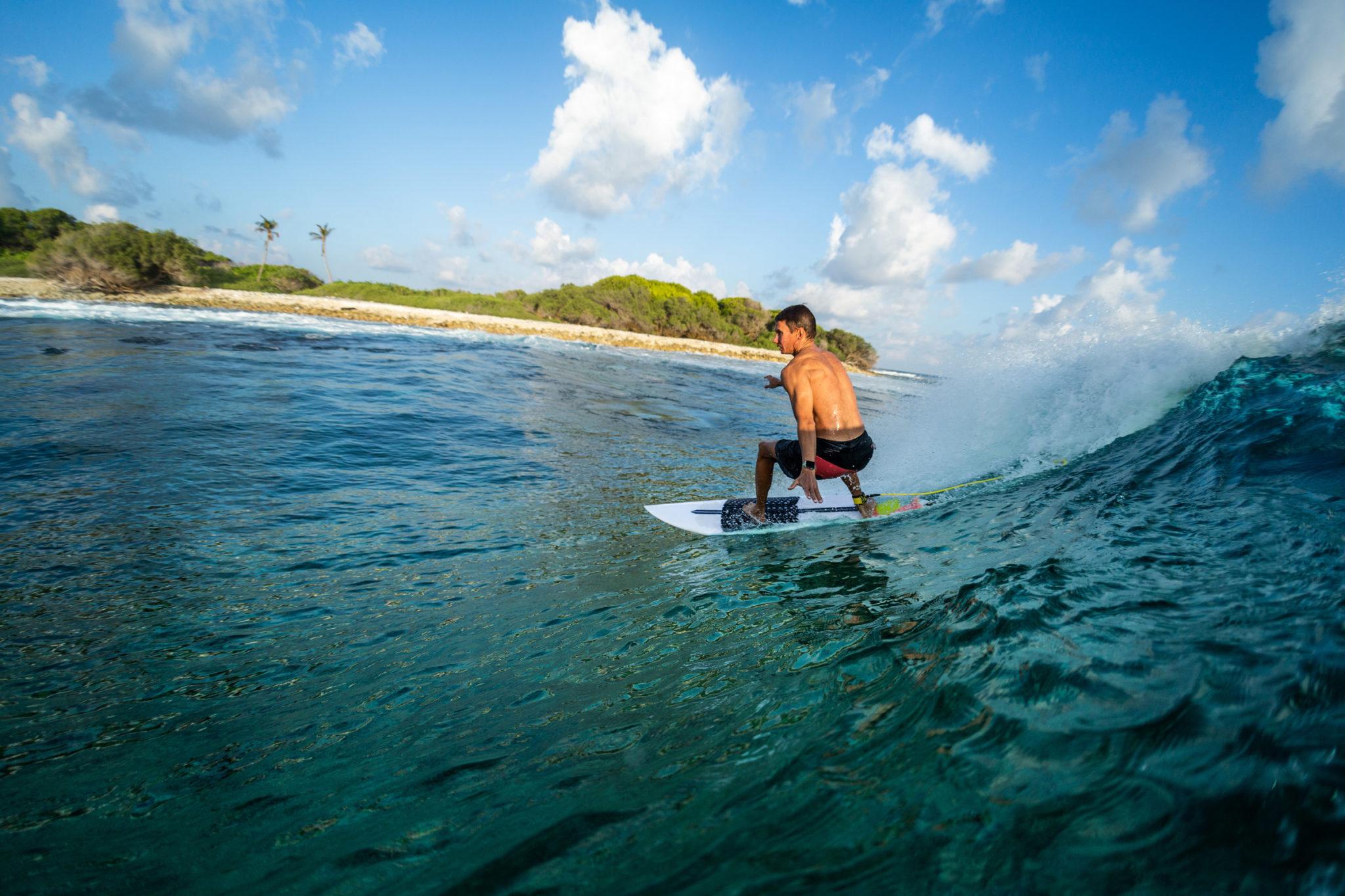 Perfekte Surfbedingungen auf den Malediven